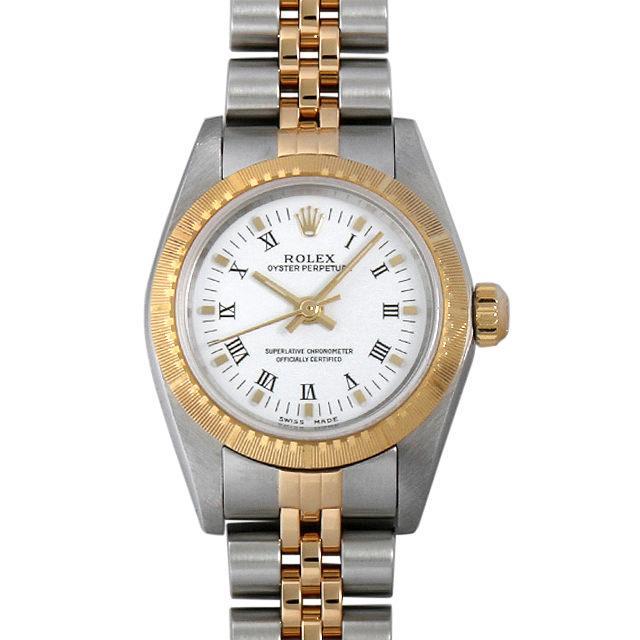 ロレックス オイスターパーペチュアル Y番 76243 ホワイト/ローマ レディース(009VROAU0164) 中古 腕時計 送料無料