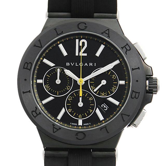 ブルガリ ディアゴノ ウルトラネロ クロノグラフ DG42BBSCVDCH/2 メンズ(006TBVAU0003) 中古 腕時計 送料無料