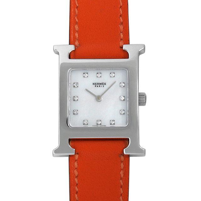 エルメス Hウォッチ 12Pダイヤ HH1.210 レディース(001HHEAU0012) 中古 腕時計 送料無料