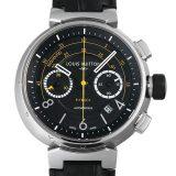 ルイヴィトン タンブール フライバッククロノグラフ ヴォレ2 Q102BO メンズ(0EFMLVAU0001) 中古 腕時計 送料無料