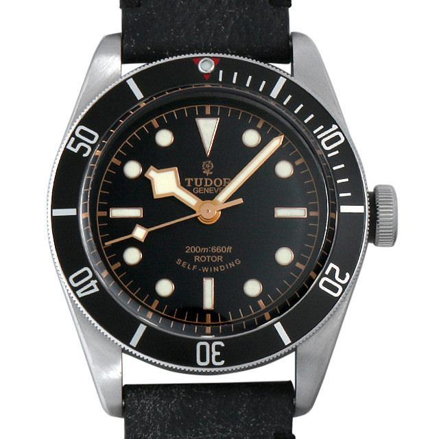 チュードル ヘリテージ ブラックベイ レザーストラップ 79220N メンズ(03O0TUAU0001) 中古 腕時計 送料無料