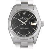ロレックス オイスターパーペチュアル デイト Cal.1570 17番 1500 ブラック/バー メンズ(007UROAA0065) アンティーク 腕時計 送料無料