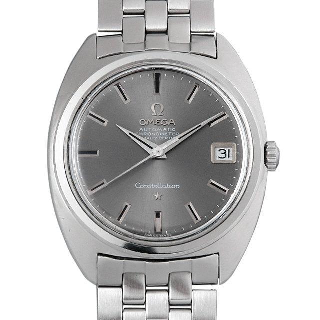 オメガ コンステレーション Cal.564 ST168.017 グレー/Cライン メンズ(008WOMAA0015) アンティーク 腕時計 送料無料