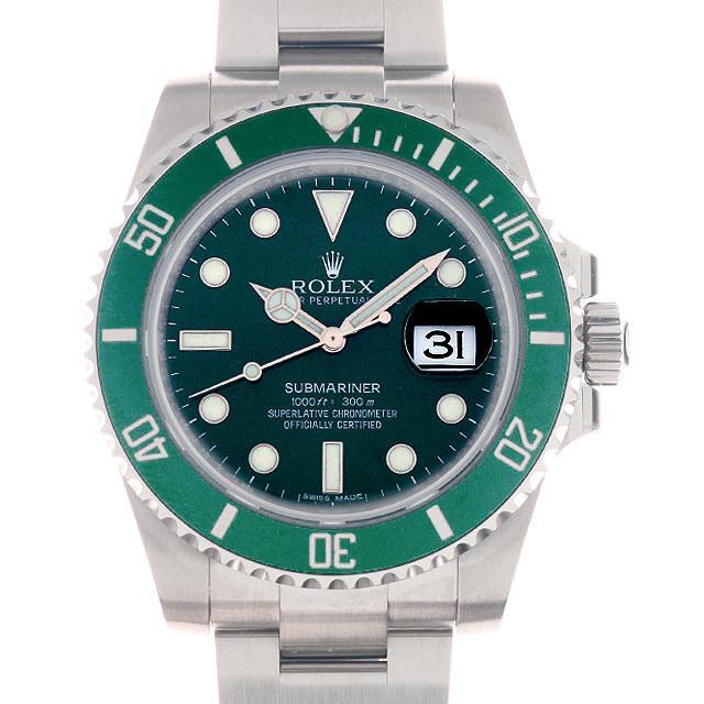 ロレックス サブマリーナ デイト ランダムシリアル 116610LV メンズ(002XROAS0006) 中古 未使用 腕時計 送料無料