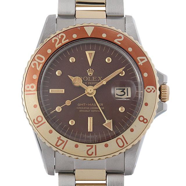 ロレックス GMTマスター Cal1570 31番 1675 ブラウン/フジツボ メンズ(009SROAA0001) アンティーク 腕時計 送料無料