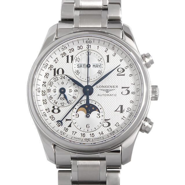 ロンジン マスターコレクション クロノグラフ ムーンフェイズ L2.673.4.78.6 メンズ(001HLGAS0001) 未使用 腕時計 送料無料 5000円オフクーポン配布中