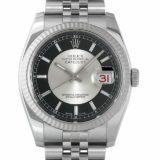 ロレックス デイトジャスト G番 116234 ブラック×シルバー メンズ(0087ROAU0145) 中古 腕時計 送料無料 SALE