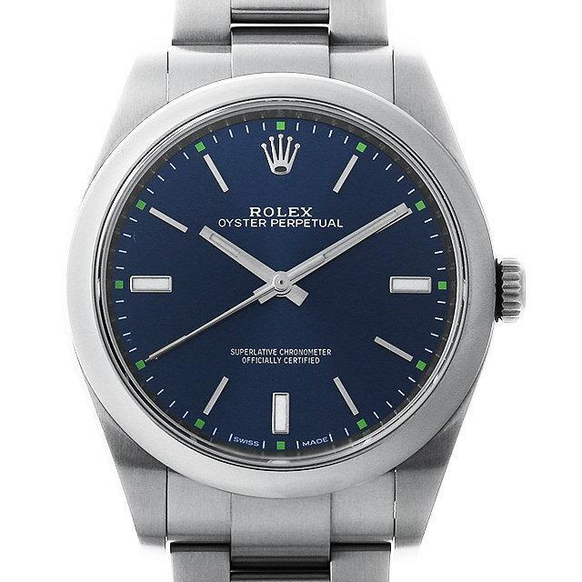 ロレックス オイスターパーペチュアル39 114300 ブルー メンズ(001HROAU0226) 中古 腕時計 送料無料
