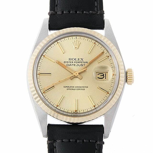 ロレックス デイトジャスト 16013 シャンパン/バー 58番 メンズ(007UROAU0492) 中古 腕時計 送料無料