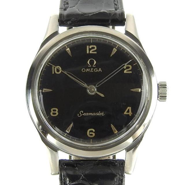 OMEGA オメガ シーマスター メンズ 手巻き 腕時計 ミラーダイヤル cal.370 時計 中古