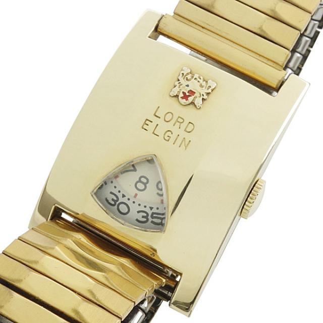 ELGIN ロードエルジン jump hour ジャンピングアワー 7777 機械式デジタル 手巻き 14KGF 腕時計 アンティーク 中古