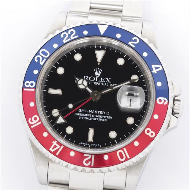 ROLEX ロレックス GMTマスターII 16710 中古 メンズ 腕時計 オーバーホール・新品仕上げ済み