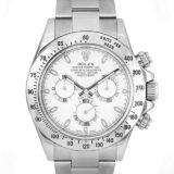 ROLEX ロレックス 腕時計 デイトナ 116520 G番 ステンレス 40mm 白文字盤 日本国内正規品 メンズ クロノグラフ コスモグラフ ステンレス ホワイト文字盤 旧型 廃盤品 希少 自動巻き オートマ スポーツモデル WATCH 中古  送料無料