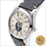 ロレックス オイスターデイト Ref.6694 ステンレススチール シルバーダイアル UAE警察軍紋章 1981年 66番 中古 アンティーク メンズ