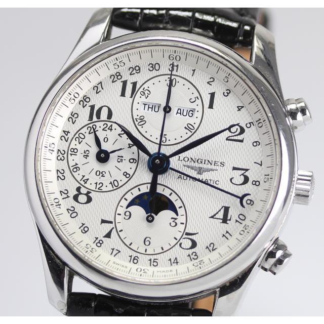 LONGINES ロンジン マスターコレクション L2.673.4.78.3 トリプルカレンダー ムーンフェイズ 自動巻き メンズ腕時計 /箱・保証書つき 中古
