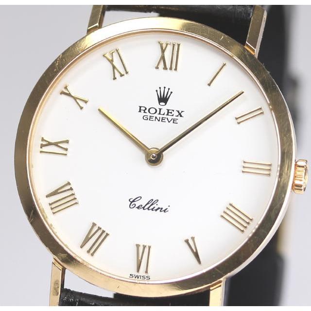 ROLEX ロレックス チェリーニ Ref.4112 Cal.1602 W番 K18YG 手巻き 箱付 メンズ腕時計 中古 精度良好☆