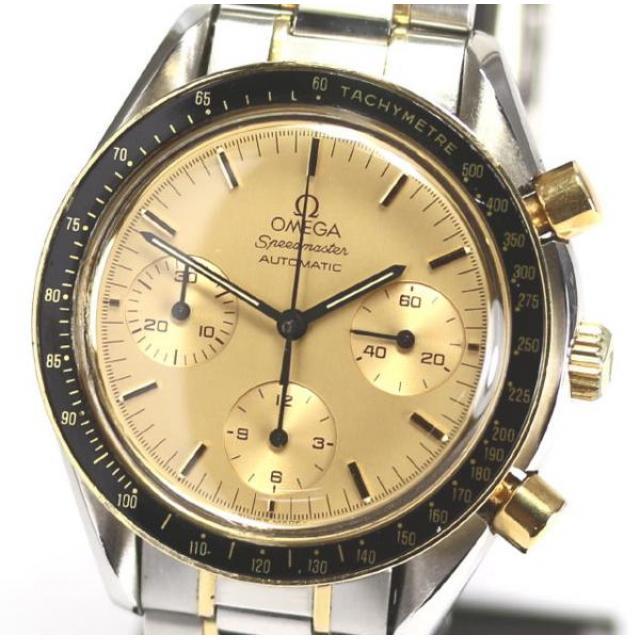 オメガ スピードマスター 3310.10 YG AT 保証書付 メンズ腕時計 中古 1707