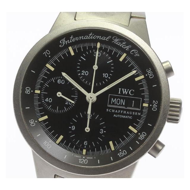 IWC GST クロノ 3707-003 チタン 自動巻き メンズ 中古 保証書付き