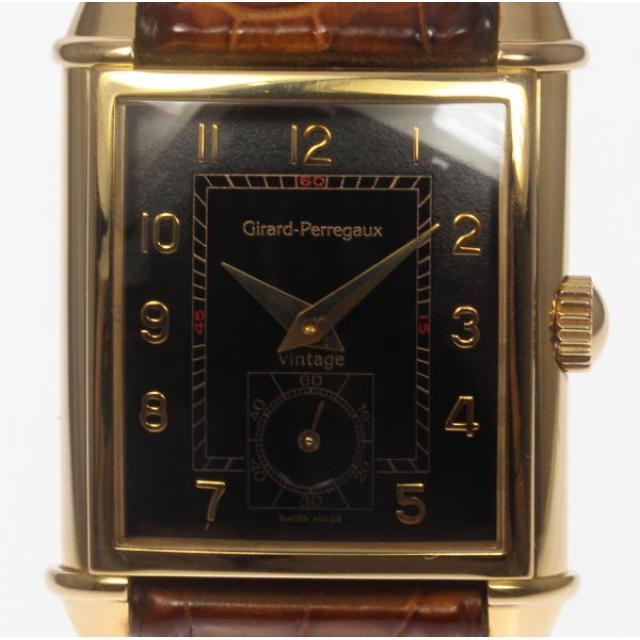 GIRARD-PERREGAUX ジラール・ペルゴ K18PG ヴィンテージ1945 2595 手巻き 純正革ベルト メンズ 中古 190827