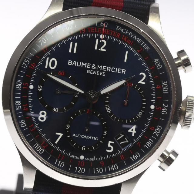 BAUME&MERCIER ボーム&メルシエ ケープランド M0A10066 クロノグラフ 自動巻き ナイロンベルト メンズ 171005