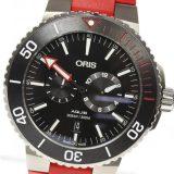 ORIS オリス アクイス マイスター タウハー 01 749 7734 7154-Set ラバーベルト 自動巻き メンズ 中古 箱保付 未使用品