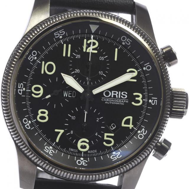 ORIS オリス ビッグクラウン タイマー クロノグラフ 675 7648 4234F 自動巻き メンズ 180215 箱保