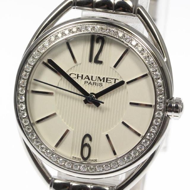 ショーメ CHAUMET リアン W23611-01A レディース クォーツ 純正ダイヤベゼル 180225 コンプリートサービス済 美品