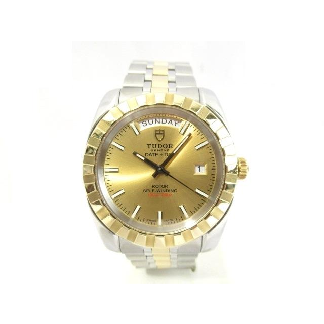 TUDOR チュードル 時計 ウォッチ クラシック デイデイト 23013 オートマチック 自動巻き メンズ YG/SS 432 中古 大黒屋