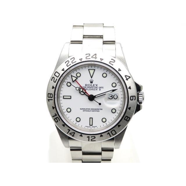 ROLEX ロレックス メンズ 時計 エクスプローラー2 オートマチック エクスプローラー SS 約123.3g ホワイト文字盤 16570 436 中古 大黒屋