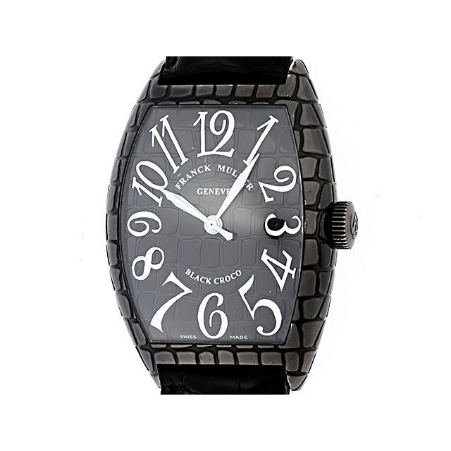 FRANCK MULLER フランク・ミュラー メンズ腕時計 トノーカーベックス ブラック クロコ 8880SCBLKCRO 438 中古 大黒屋