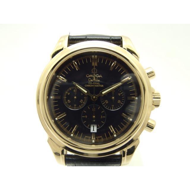 OMEGA 時計 オートマチック デ・ビル コーアクシャルクロノ YG 革 435 中古 大黒屋