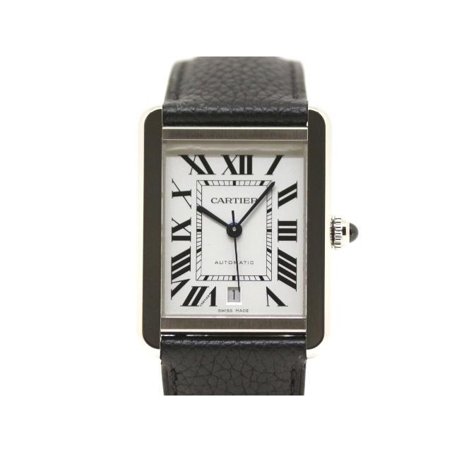 Cartier カルティエ 時計 タンク・ソロXL オートマチック ステンレススチール 革 ホワイト文字盤 200 中古 大黒屋