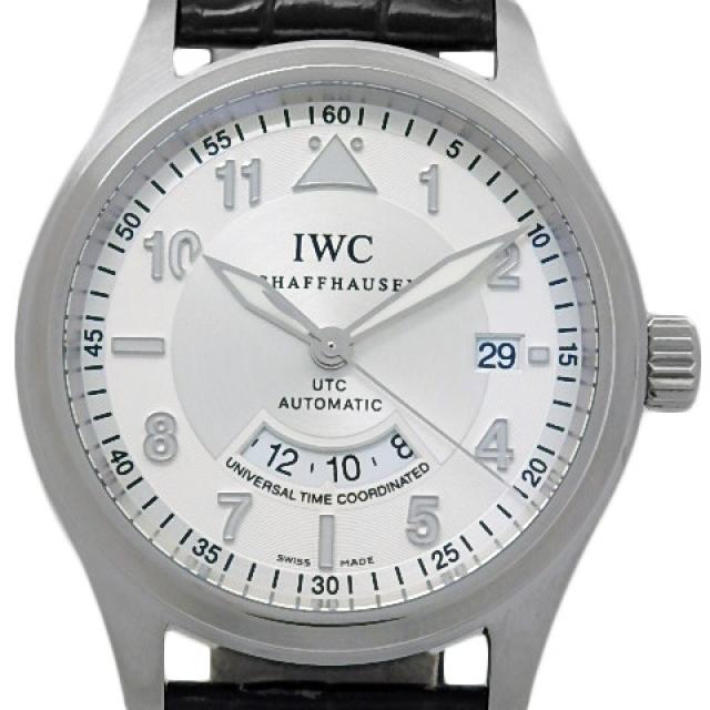 IWC スピットファイヤー UTC IW325110 メンズ オートマ シルバー文字盤 質屋出店 中古 質 DS KATOU
