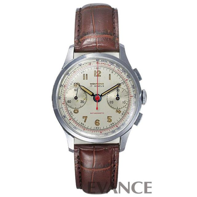 WAKMANN(ワックマン) 2レジスター クロノグラフ アンティーク 腕時計