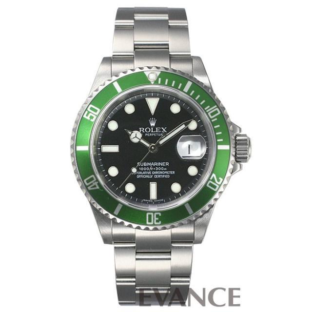 ロレックス サブマリーナデイト 16610LV グリーンベゼル Z品番 メンズ ROLEX 中古 腕時計