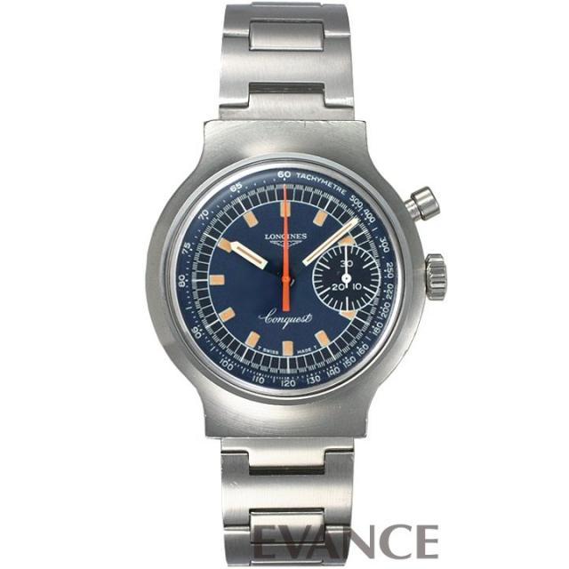 ロンジン コンクエスト ミュンヘンオリンピック記念 8614-1 ブルー 1970年代 メンズ LONGINES アンティーク 腕時計