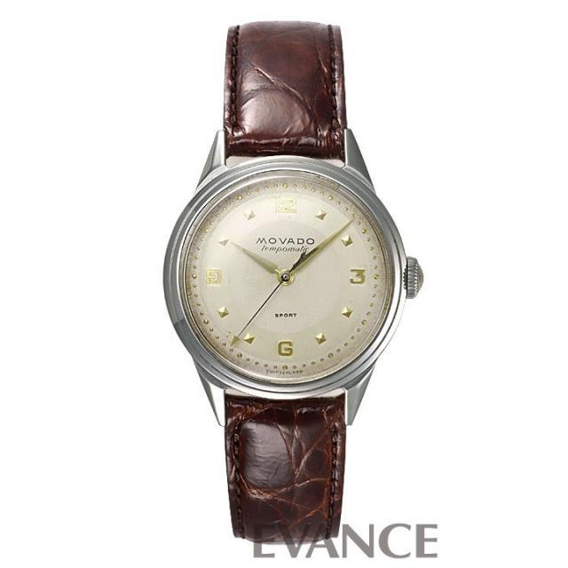 モバード テンポマチック 16191 シルバー メンズ MOVADO アンティーク 腕時計