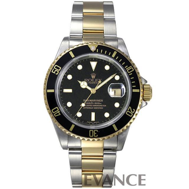 ロレックス サブマリーナデイト 16613 ブラック メンズ ROLEX 中古 腕時計