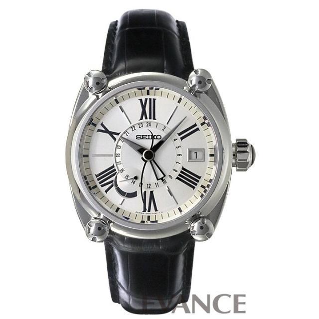 セイコー ガランテ GMT SBLA005 シルバー メンズ SEIKO 中古 腕時計