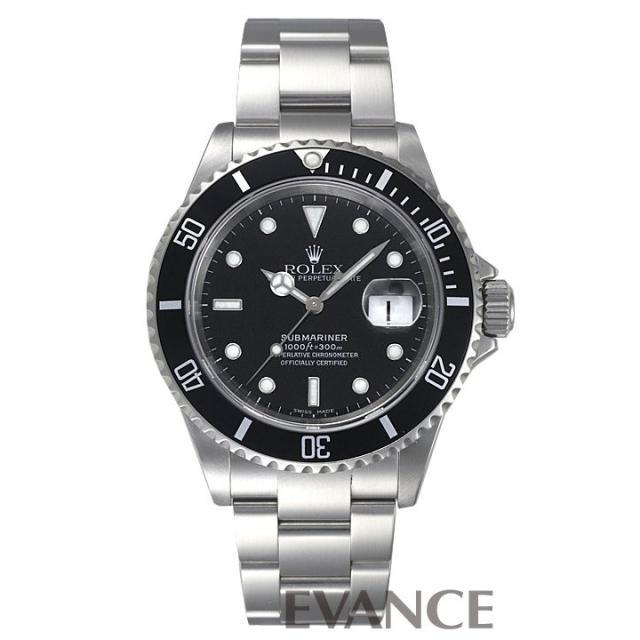 ロレックス サブマリーナデイト 16610 ブラック F品番 メンズ ROLEX 中古 腕時計