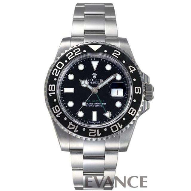 ロレックス GMTマスターII 116710LN 黒ベゼル メンズ ROLEX 中古 腕時計