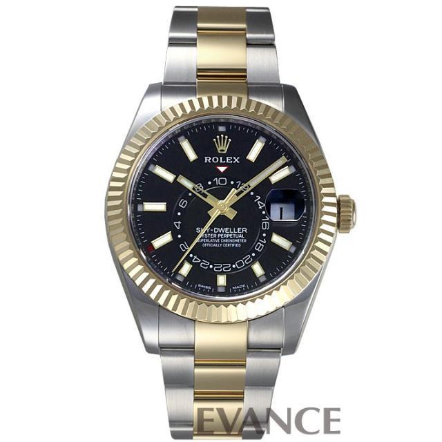 ロレックス スカイドゥエラー 326933 ブラック メンズ ROLEX 中古 腕時計