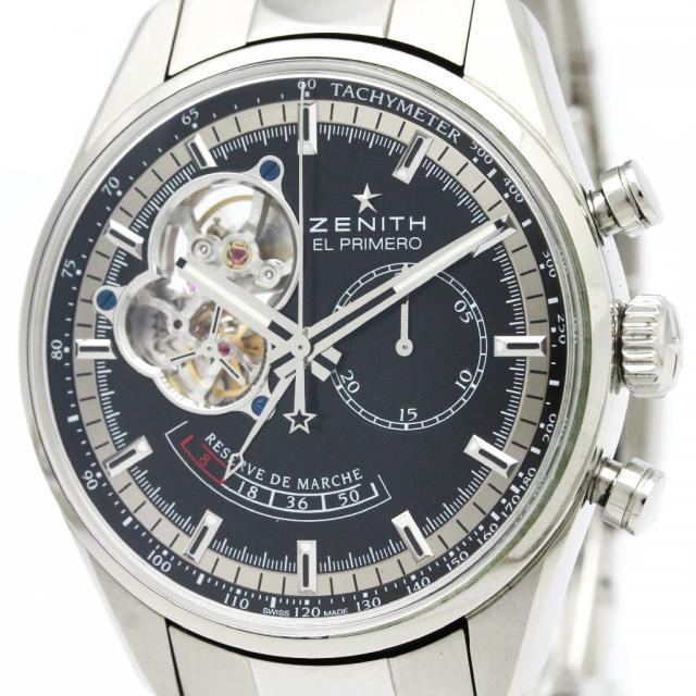 ZENITH ゼニス エルプリメロ クロノマスター オープン パワーリザーブ ステンレススチール 自動巻き メンズ 時計 03.2080.4021 中古 外装仕上げ済み