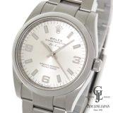 中古 仕上げ済 ギャラ付き ロレックス エアキング 114200 ランダム ルーレット シルバーダイヤル 自動巻き メンズ 腕時計