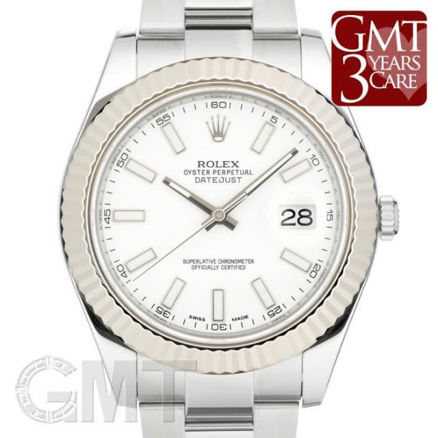 ロレックス デイトジャスト II 116334 ホワイト ROLEX 中古 メンズ 腕時計 送料無料