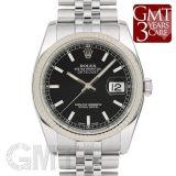 ロレックス デイトジャスト 116234 ブラック ROLEX 中古 メンズ  腕時計  送料無料