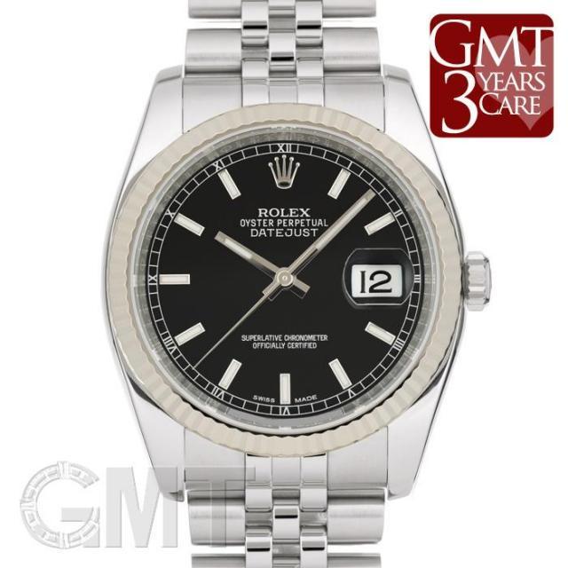 ロレックス デイトジャスト 116234 ブラック ROLEX 中古 メンズ  腕時計  送料無料  あす楽_年中無休