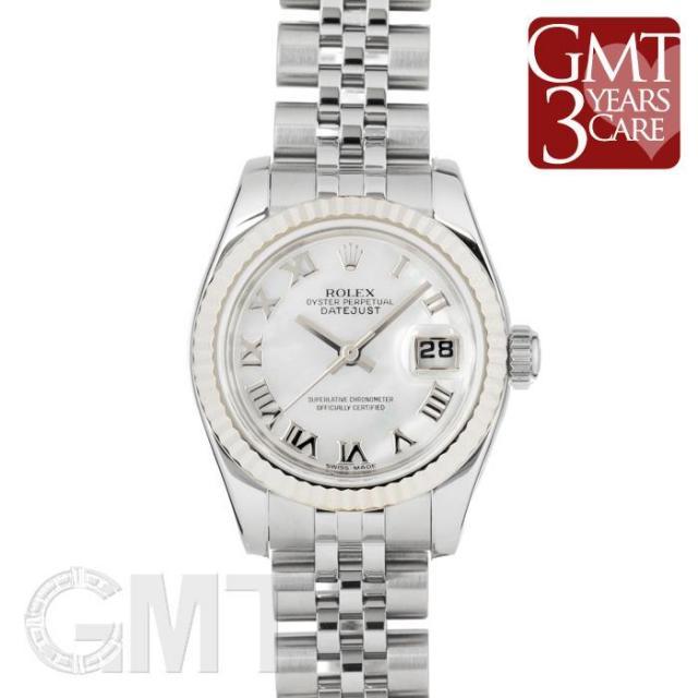 ロレックス デイトジャスト 179174NR ホワイト ROLEX 中古 レディース  腕時計  送料無料