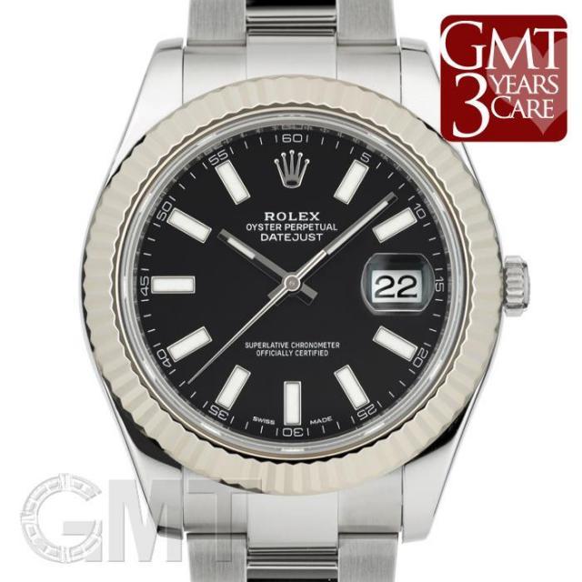 ロレックス デイトジャスト II 116334 ブラック ROLEX 中古 メンズ  腕時計  送料無料