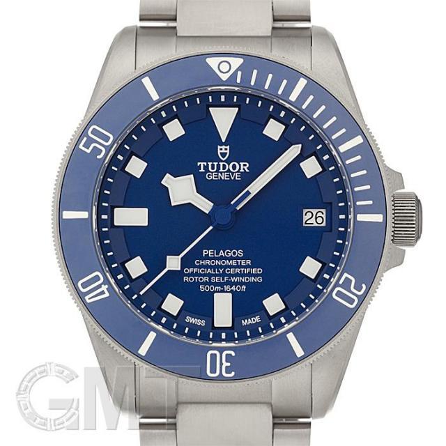 チュードル ぺラゴス ブルー TIブレス 25600TB TUDOR 中古 メンズ  腕時計  送料無料